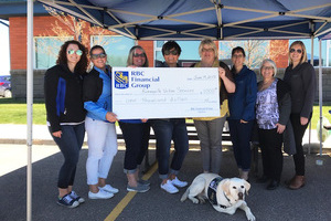 RBC Financial Group presenting Bonnyville Victim Services with a donation